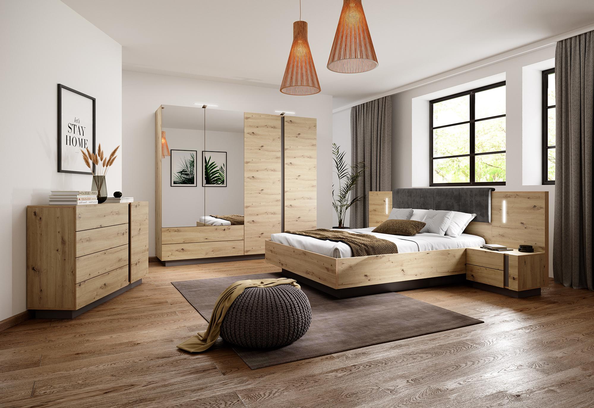 Sypialnia Arco- dąb artisan