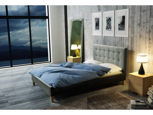 Łóżko tapicerowane DAWID pod materac 140 x 200