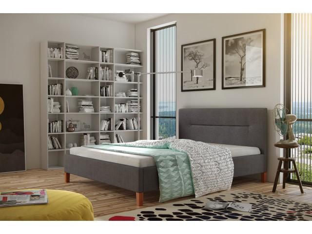 Łóżko tapicerowane KAROLINA pod materac 140 x 200