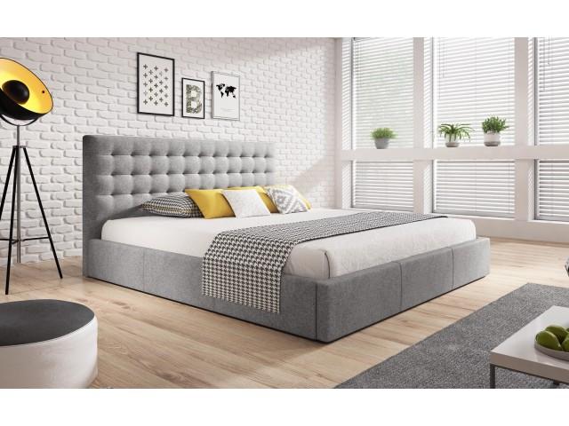 Łóżko tapicerowane VERO pod materac 160 x 200 z pojemnikiem na pościel.