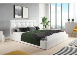 Łóżko tapicerowane ALDO pod materac 140 x 200 z pojemnikiem na pościel