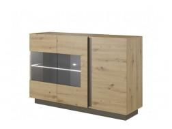 Komoda/Witryna 138 Arko- System Arko-dąb artisan