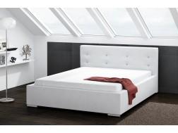 Łóżko tapicerowane DAKOTA pod materac 140 x 200 z pojemnikiem na pościel