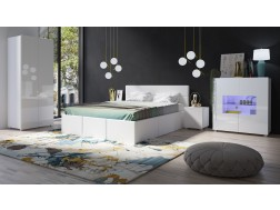 Łóżko tapicerowane CALABRINI pod materac 160 x 200, System CALABRINI, 3 kolory