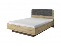 Łóżko sypialniane ARCO 160x200 cm z pojemnikiem, ze stelażem, Dąb artisan, System ARCO