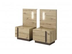 2 x Stolik nocny Arko z oświetleniem