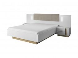 Łóżko sypialniane ARCO 160x200 cm z pojemnikiem, ze stelażem, System ARCO