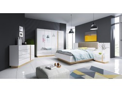 Zestaw mebli sypialnianych ARKO-biały połysk