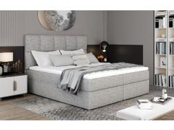 Łóżko kontynentalne GLOSSY z powierzchnią spania 140 x 200 cm