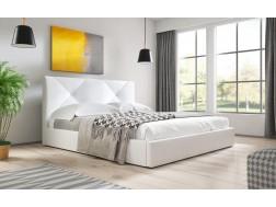 Łóżko tapicerowane KARINO pod materac 140 x 200 z pojemnikiem na pościel