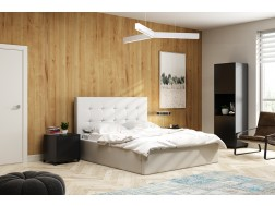 Łóżko tapicerowane LAURA 2  pod materac 140 x 200 z pojemnikiem na pościel
