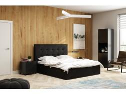Łóżko tapicerowane LAURA 2  pod materac 180 x 200 z pojemnikiem na pościel