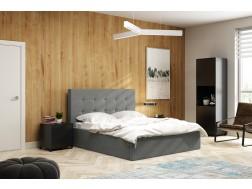 Łóżko tapicerowane LAURA 2  pod materac 160 x 200 z pojemnikiem na pościel.