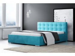 Łóżko tapicerowane DIANA pod materac 160 x 200 z pojemnikiem na pościel