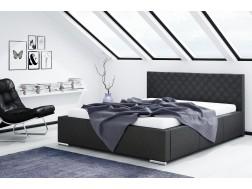 Łóżko tapicerowane NEVADA pod materac 140 x 200 z pojemnikiem na pościel
