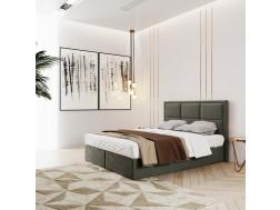 Łóżko tapicerowane ROMA pod materac 160 x 200 z pojemnikiem na pościel