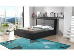 Łóżko tapicerowane SIMONA pod materac 140 x 200 z pojemnikiem na pościel