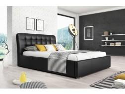Łóżko tapicerowane MALAGA pod materac 160 x 200 z pojemnikiem na pościel