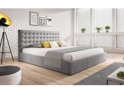 Łóżko tapicerowane VERO pod materac 140 x 200 z pojemnikiem na pościel