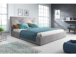 Łóżko tapicerowane KARO pod materac 160 x 200 z pojemnikiem na pościel.