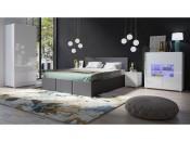 Łóżko tapicerowane CALABRINI 160x200, System CALABRINI