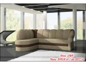 Narożnik pokojowy BENANO 250 cm, Rozkładany, Sprężyny