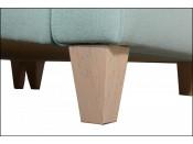Narożnik pokojowy BERG 228 cm, Rozkładany, Sprężyny