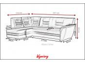 Narożnik pokojowy JORDANIA 257 cm, Rozkładany, Sprężyny