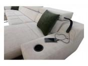 PROMOCJA !!! Narożnik pokojowy LIKANTE X -361/300/185 cm, Kształt U, Rozkładany, Sprężyny