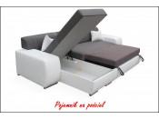 Narożnik pokojowy OLIMP 278 cm + Pufa, Rozkładany, Sprężyny