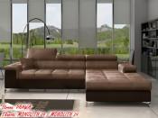 Narożnik pokojowy RICARDO 280 cm, Rozkładany, Sprężyny, Pianka HR