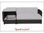 Narożnik pokojowy ROMO BIS 222 cm, Rozkładany, Sprężyny