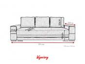 Kanapa SAMANTA A 251 cm, Rozkładana, Sprężyny