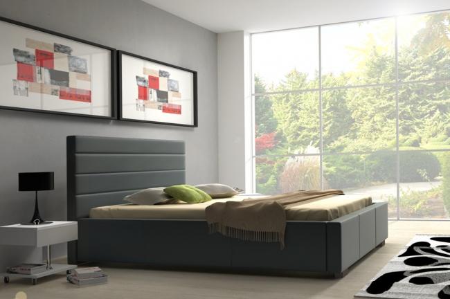 tanie łóżko tapicerowane